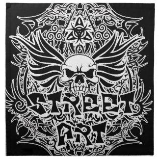 Tattoo tribal street art napkin
