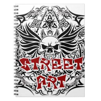 Tattoo tribal street art notebooks