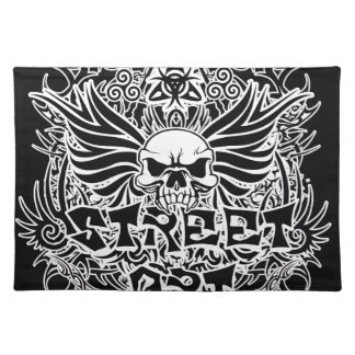 Tattoo tribal street art placemat