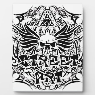 Tattoo tribal street art plaque