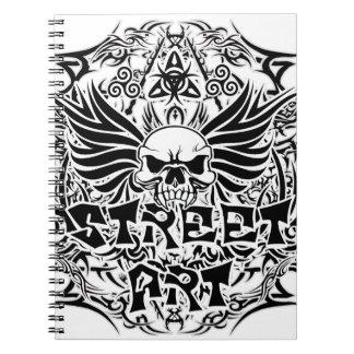 Tattoo tribal street art spiral notebook