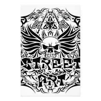 Tattoo tribal street art stationery