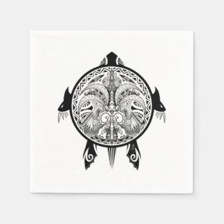 Tattoo Tribal Turtle Disposable Napkins