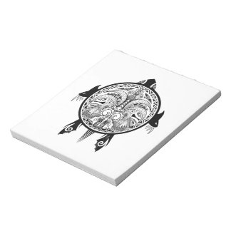 Tattoo Tribal Turtle Notepad