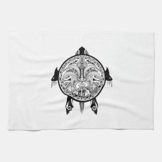 Tattoo Tribal Turtle Tea Towel