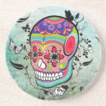 Tattoo Urban Muerte Day of the Dead. Drink Coasters
