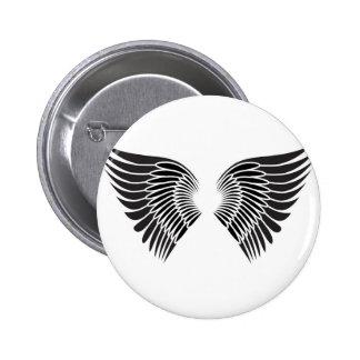 Tattoo wings 6 cm round badge