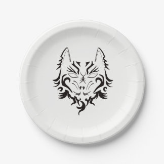 TATTOO WOLF PATTERN PARTY PLATE