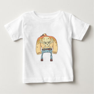 Tattooed Dangerous Criminal Outlined Comics Style Baby T-Shirt