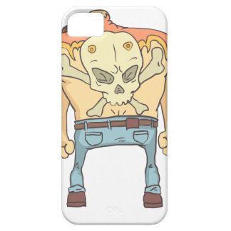 Tattooed Dangerous Criminal Outlined Comics Style Barely There iPhone 5 Case
