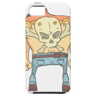 Tattooed Dangerous Criminal Outlined Comics Style Case For The iPhone 5