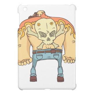 Tattooed Dangerous Criminal Outlined Comics Style iPad Mini Case