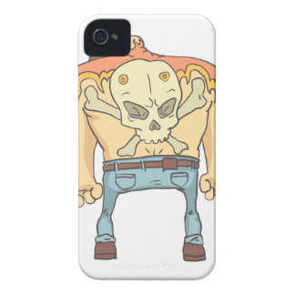 Tattooed Dangerous Criminal Outlined Comics Style iPhone 4 Case-Mate Case