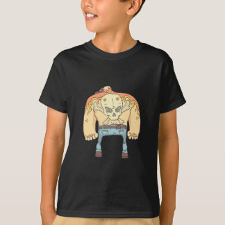 Tattooed Dangerous Criminal Outlined Comics Style T-Shirt