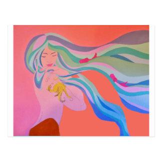 Tattooed Mermaid Postcard