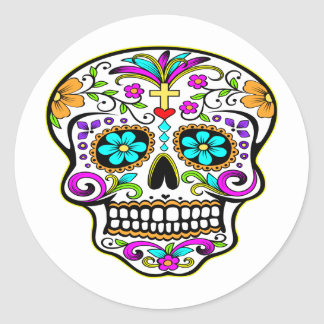 Tattooed Skull Tattoo Round Sticker