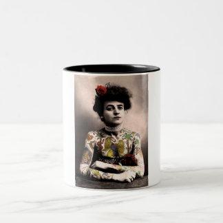 Tattooed Woman Coffee Mug Vintage Photograph