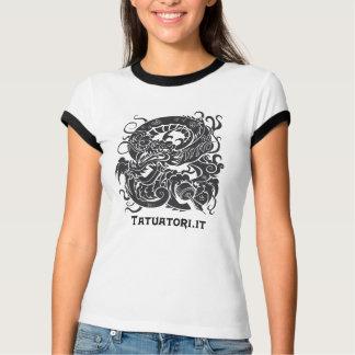 Tattooer Dragon BW T-Shirt