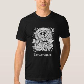 Tattooer Dragon WB Tshirt
