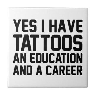 Tattoos Education & a Career Tile