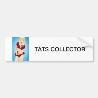 Tattoos, girl,vintage retro, pinup, fashion, car, bumper sticker