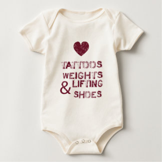 tattoos weights shoes female baby bodysuit