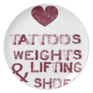 tattoos weights shoes female plate