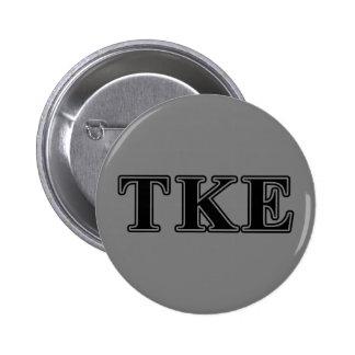 Tau Kappa Epsilon Black Letters 6 Cm Round Badge