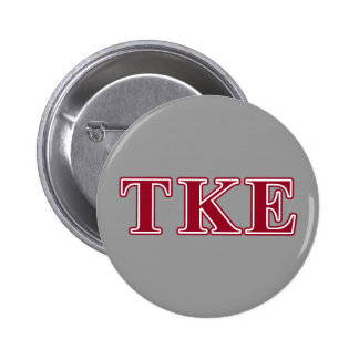 Tau Kappa Epsilon Red Letters 6 Cm Round Badge