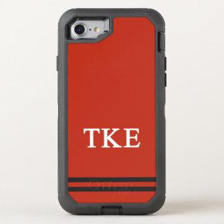 Tau Kappa Epsilon   Sport Stripe OtterBox Defender iPhone 8/7 Case