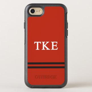 Tau Kappa Epsilon   Sport Stripe OtterBox Symmetry iPhone 8/7 Case