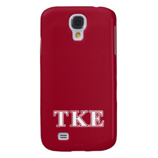 Tau Kappa Epsilon White and Red Letters Samsung Galaxy S4 Covers