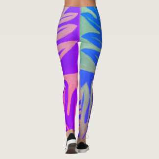 Tauati Fern of Royal Blue Leggings