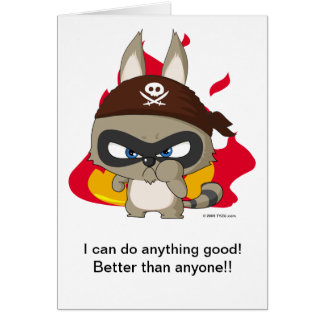 "Taucoo Greeting Card ""I can do anything good!"""