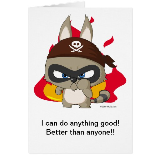 """Taucoo Greeting Card """"I can do anything good!"""""""