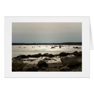Taunton Bay Afternoon at Ebb Tide Zazzle Card
