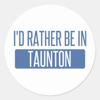 Taunton Classic Round Sticker