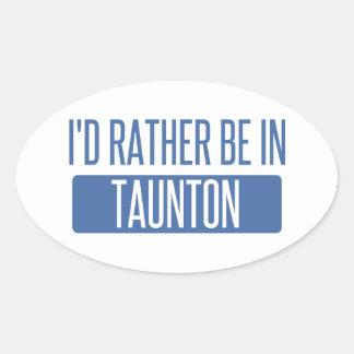 Taunton Oval Sticker
