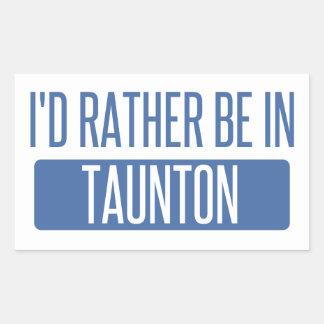 Taunton Rectangular Sticker