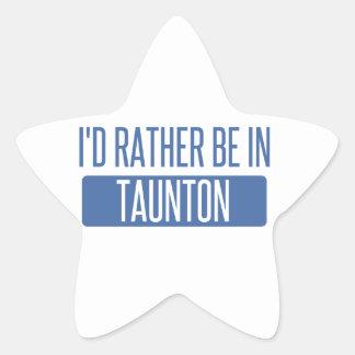 Taunton Star Sticker
