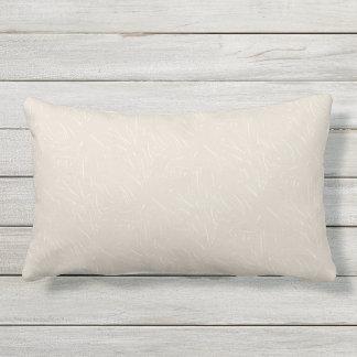 Taupe and Cream Texture Outdoor Lumbar Pillow