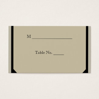 Taupe and Teal Seaside Wedding Place Cards