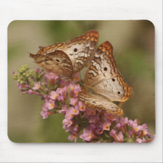 Taupe and Yellow Butterflies Mouse Pad