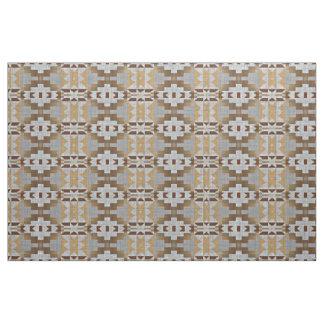 Taupe Beige Tan Dark Brown Gray Ethnic Look Fabric