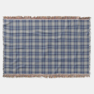 Taupe Blue Lilac Purple Grey Tartan Plaid Throw Blanket
