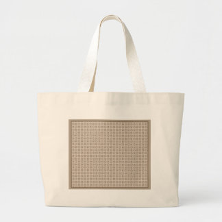 Taupe Circle Tote Canvas Bag