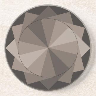Taupe Design Coaster
