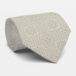Taupe Geometric Medieval Tie