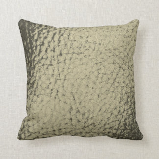 Taupe Gray Faux Leather Design Cushion