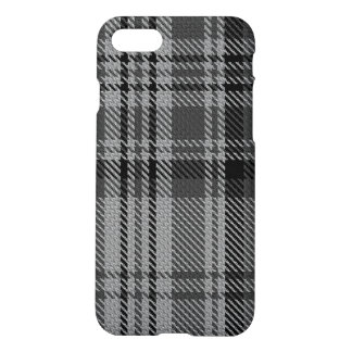 Taupe Grey Charcoal Black Giant Tartan Plaid iPhone 8/7 Case
